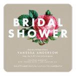 "Bold Botanical | Bridal Shower Invitation 5.25"" Square Invitation Card"