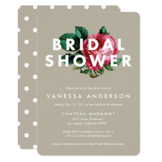 Bold Botanical | Bridal Shower Invitation