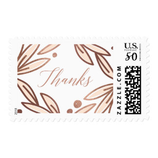Bold botanical faux foil thank you stamp