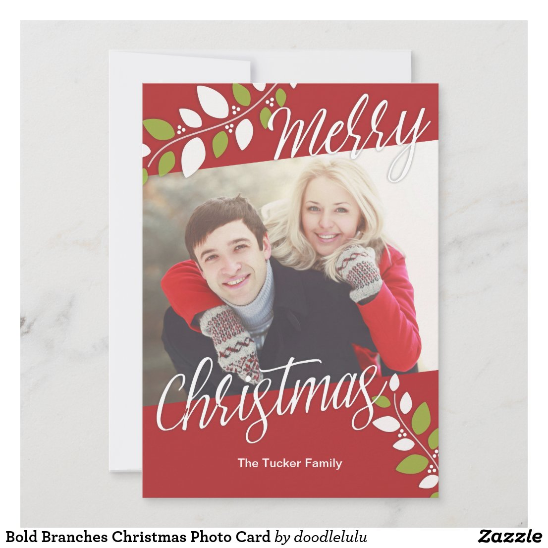Bold Branches Christmas Photo Card