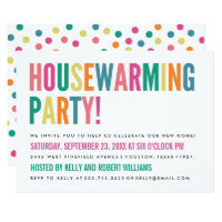Bold Bright Color Housewarming Party Invitation