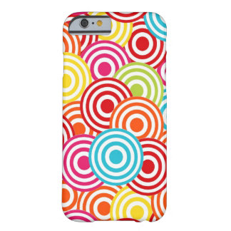 Bold Bright Colorful Concentric Circles Pattern Barely There iPhone 6 Case