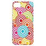 Bold Bright Colorful Concentric Circles Pattern Cover For iPhone 5/5S
