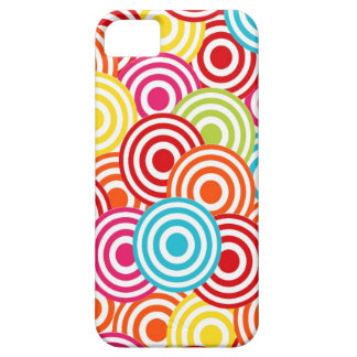 Bold Bright Colorful Concentric Circles Pattern iPhone SE/5/5s Case