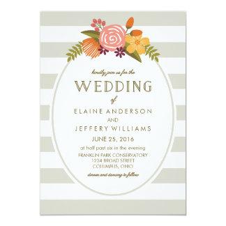Bold Bright Colorful Floral Wedding Invitation