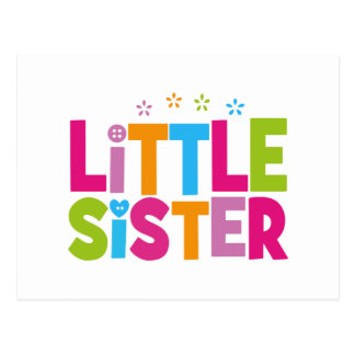 Bold, Bright &Colorful Little Sister Postcard