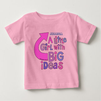 Bold Bright Colorful Text | 'Big Ideas' Design Baby T-Shirt