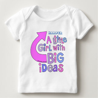 Bold Bright Colorful Text   'Big Ideas' Design Baby T-Shirt