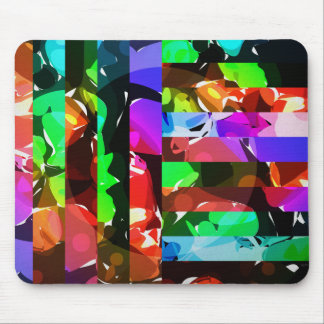 Bold Bright Colors Collage Mouse Pad