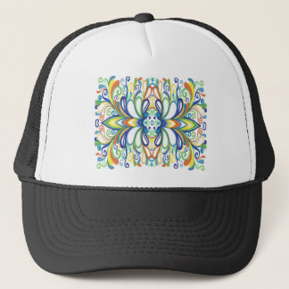 Bold, Bright Graffiti Doodle Trucker Hat