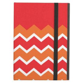 Bold Bright Orange Red Chevron Zigzag Pattern iPad Case