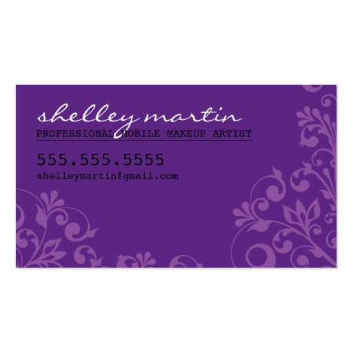BOLD bright organic swirl pattern violet purple Business Card Templates