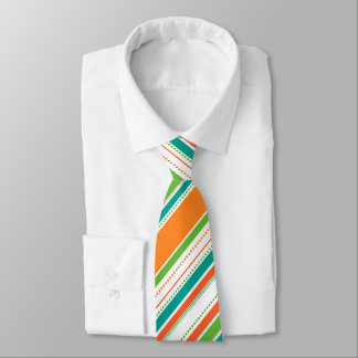 Bold Bright Stripes and Dots Neck Tie
