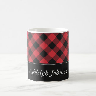 Bold Buffalo Check Plaid Red & Black Coffee Mug