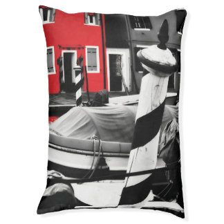 BOLD BURANO Red Color Pop Iconic Venice Poles Pet Bed