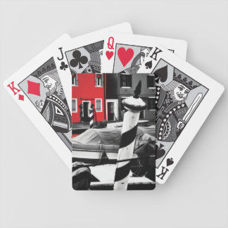 BOLD BURANO Venice Pop of Red Bicycle Playing Cards