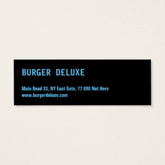 BOLD Burger Blue Mini Business Card