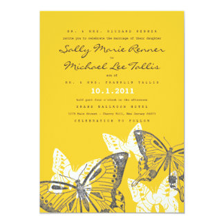 Bold Butterflies Wedding Invitation
