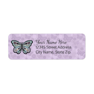 Bold Butterfly return address labels