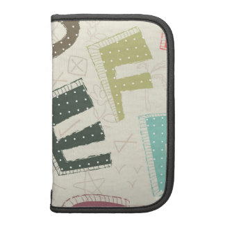 Bold Cartoon Style Letters Organizers