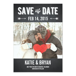 Bold Chalkboard Save The Date Cards