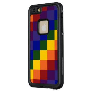 Bold Checkered Rainbow Pattern LifeProof® FRĒ® iPhone 6/6s Plus Case