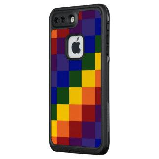 Bold Checkered Rainbow Pattern LifeProof® FRĒ® iPhone 7 Plus Case
