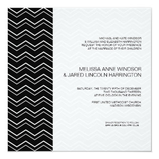 Bold Chevron Black and White Modern Affordable Card