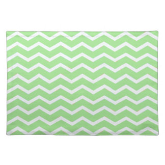 Bold Chevron Fresh Spring Green Placemats