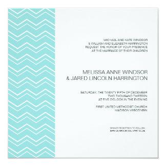 Bold Chevron Stripe Aqua Blue Modern Affordable Card