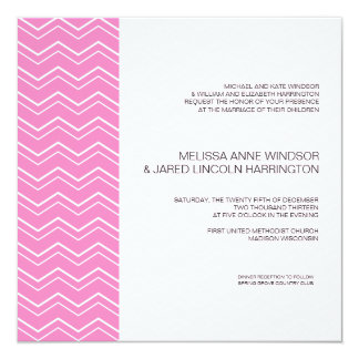 Bold Chevron Stripe Hot Pink Modern Affordable Card