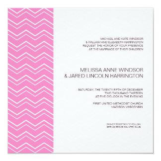 Bold Chevron Stripe Hot Pink Modern Affordable Card