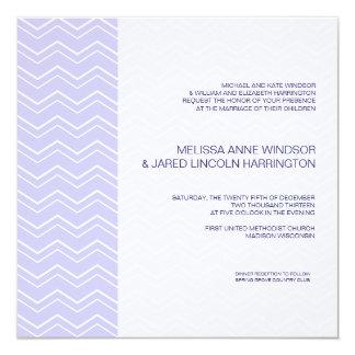 Bold Chevron Stripe Lavender Purple Affordable Card