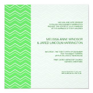 Bold Chevron Stripe Lime Green Modern Affordable Card