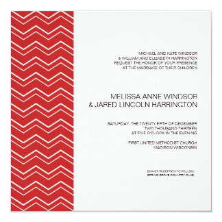 Bold Chevron Stripe Red  Modern Affordable Card