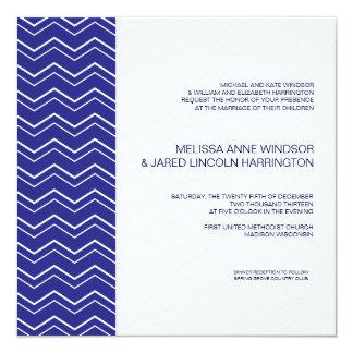 Bold Chevron Stripe Royal Blue Modern Affordable Card