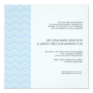 Bold Chevron Stripe Sky Blue Modern Affordable Card