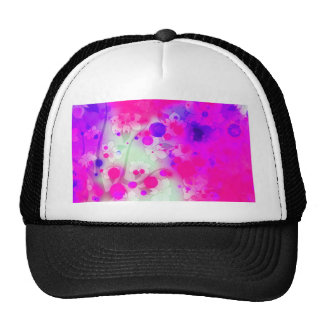 Bold & Chic Floral Pink Watercolor Abstract Trucker Hat
