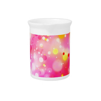Bold & Chic Fuchsia Pink Watercolor Abstract Drink Pitchers