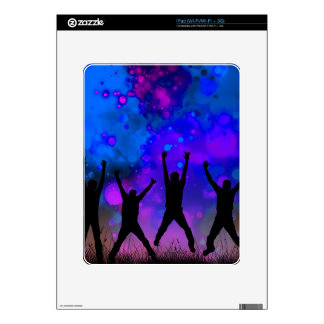 Bold & Chic Jumping for Joy Watercolor Abstract Decal For The iPad
