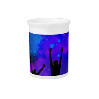 Bold & Chic Jumping for Joy Watercolor Abstract Pitchers