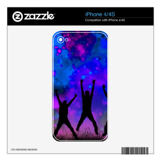 Bold & Chic Jumping for Joy Watercolor Abstract Skin For iPhone 4S