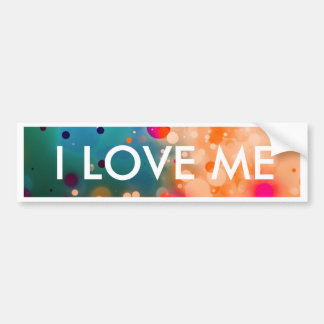 Bold & Chic Pink Orange Blue Watercolor Abstract Bumper Sticker