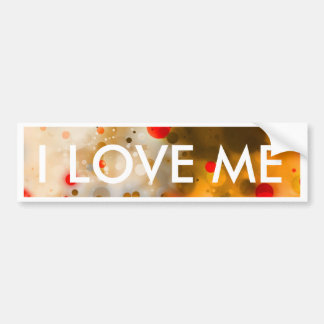 Bold & Chic Red Brown Orange Watercolor Abstract Bumper Sticker