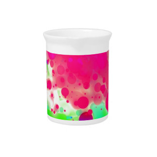 Bold & Chic SQUARE & CIRCLES Watercolor Abstract Pitcher