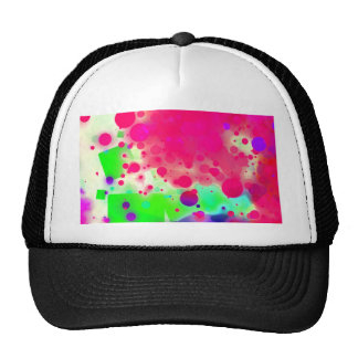 Bold & Chic SQUARE & CIRCLES Watercolor Abstract Trucker Hat