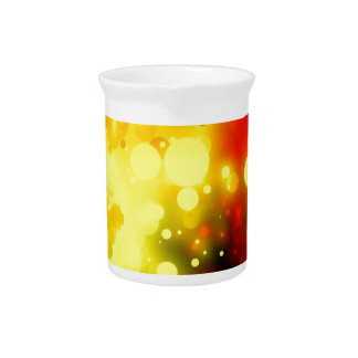 Bold & Chic Yellow and Red Watercolor Abstract Beverage Pitcher