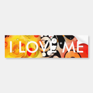 Bold & Chic Yellow Rose Red Watercolor Abstract Bumper Sticker