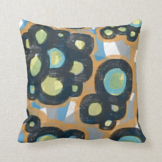 Bold Circles Abstract Modern Art Pillows