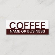 bold COFFEE color customizable Mini Business Card